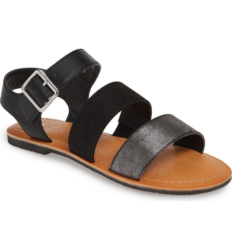 BC FOOTWEAR Picturesque Vegan Sandal, Main, color, BLACK MULTI