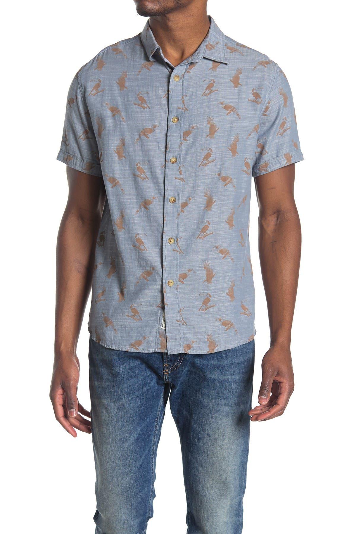Image of Grayers Toucan Print Regular Fit Shirt
