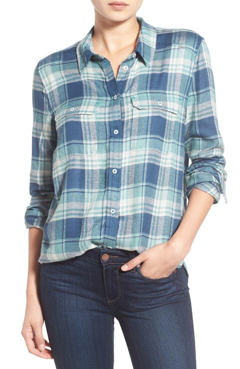 PAIGE Denim 'Trudy' Plaid Shirt, Main, color, 423