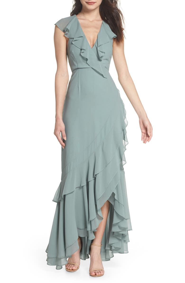 C/MEO COLLECTIVE C/MEO Be About You Ruffle Gown, Main, color, 330