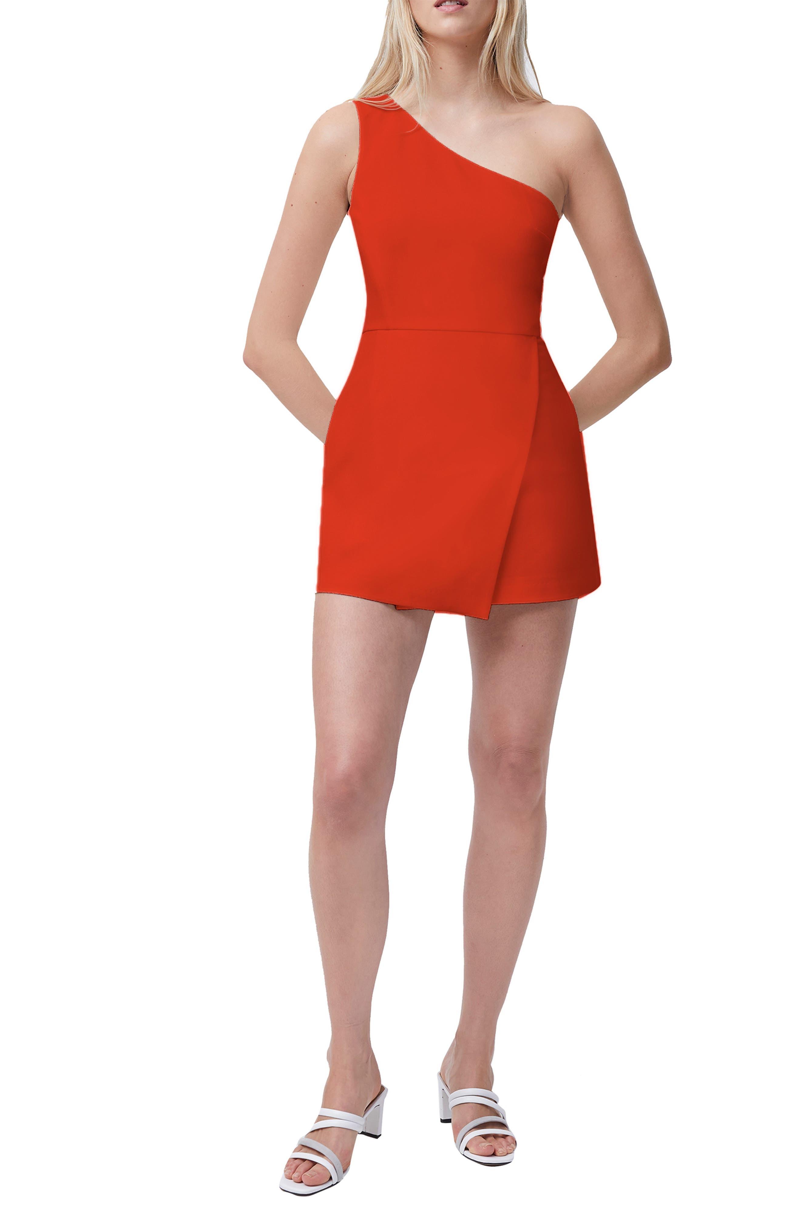 Whisper One-Shoulder Minidress
