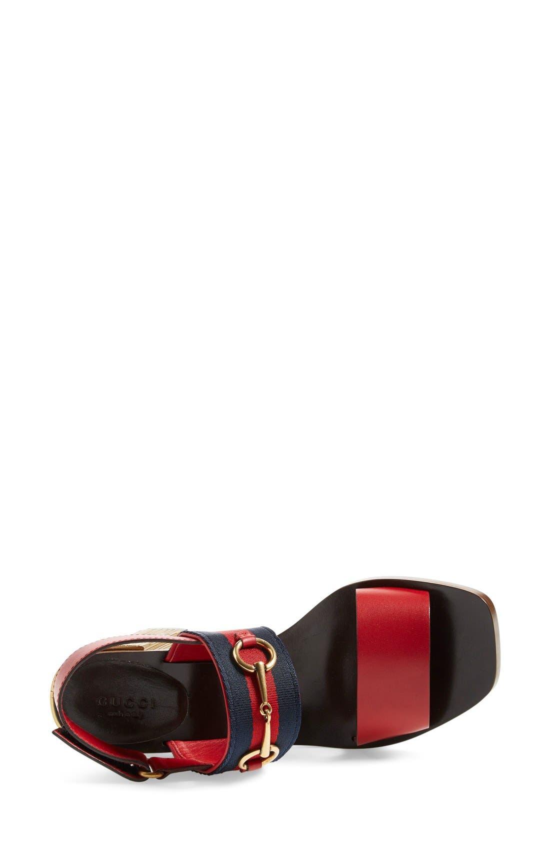 ,                             'Querelle' Horsebit Slingback Sandal,                             Alternate thumbnail 6, color,                             600