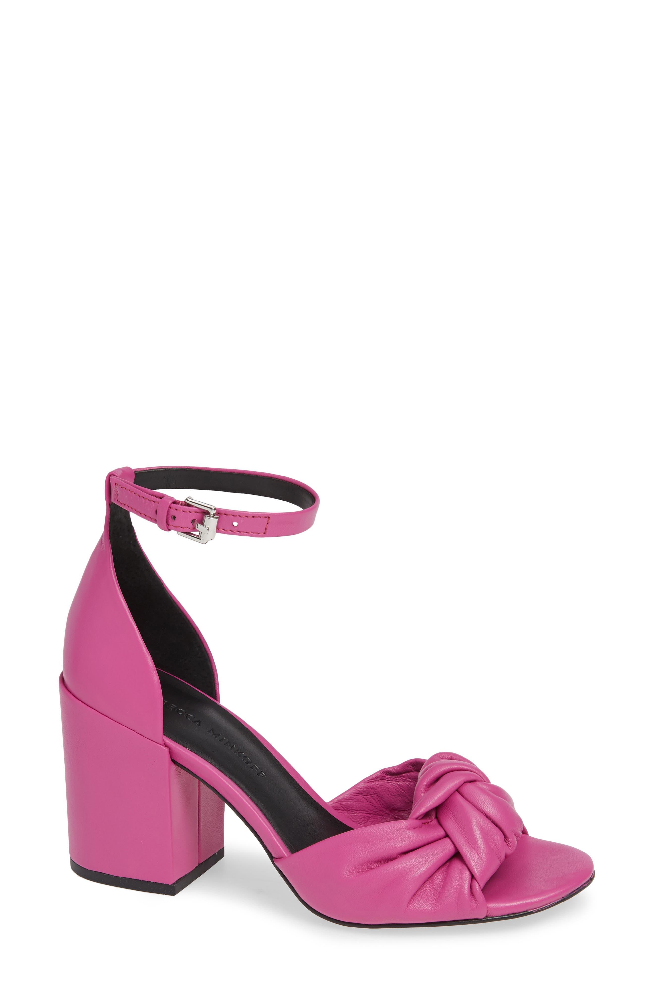 Rebecca Minkoff Capriana Ankle Strap Sandal- Pink