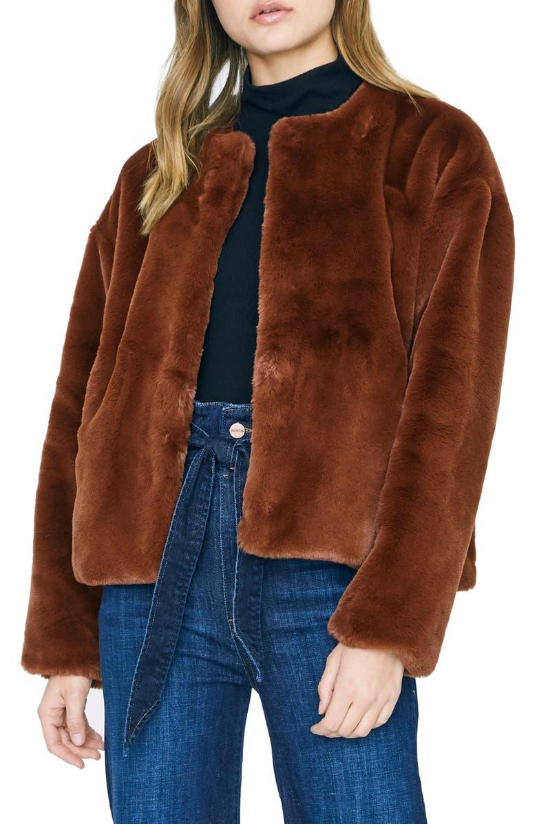 SANCTUARY Starry Night Faux Fur Jacket, Main, color, 200