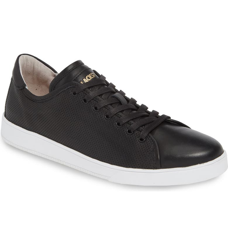 BLACKSTONE Low Top Sneaker, Main, color, BLACK LEATHER