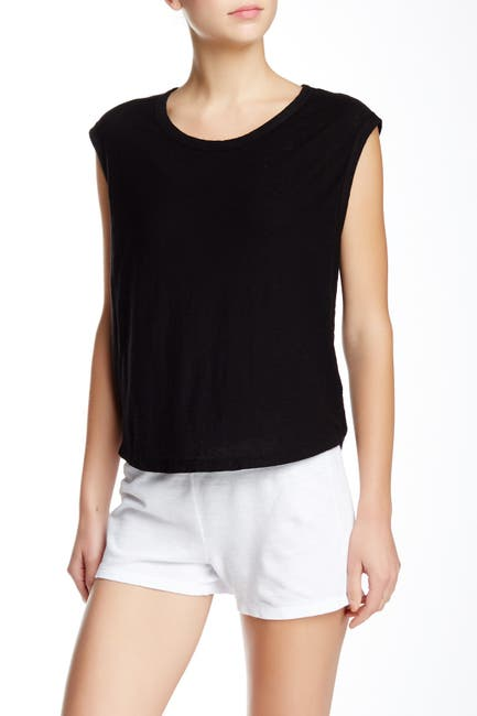 Image of James Perse Solid Cap Sleeve T-Shirt