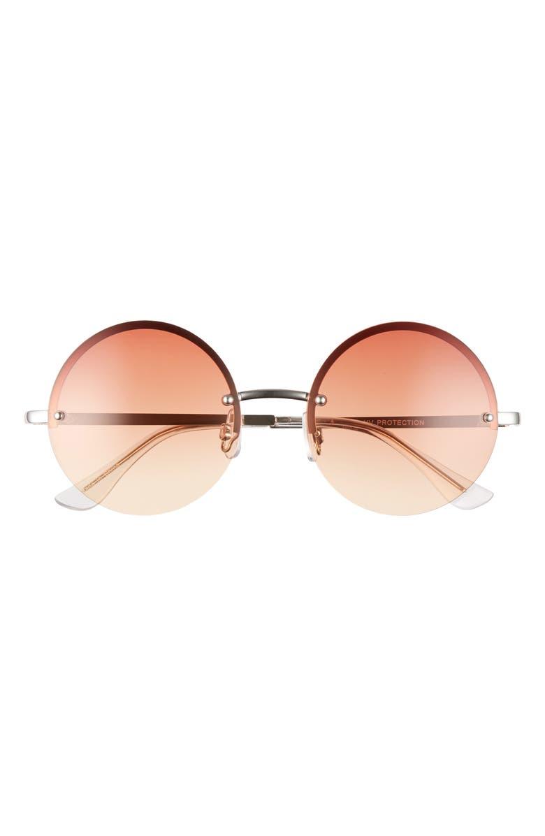 BP. Round Sunglasses, Main, color, ROSE GOLD