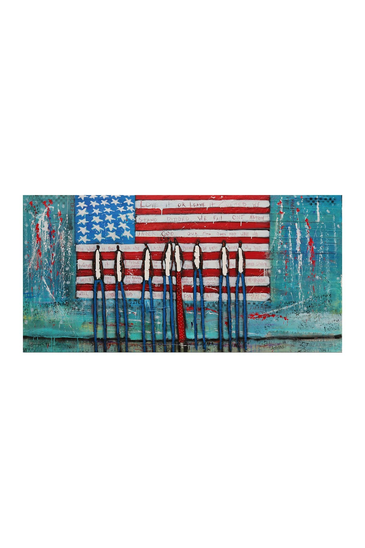 """Image of COURTSIDE MARKET America the Beautiful 45"""" x 96"""" Mural"""