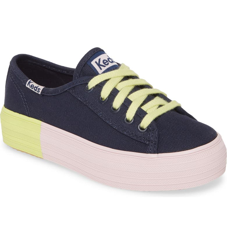 KEDS<SUP>®</SUP> Triple Kick Sneaker, Main, color, NAVY BLOCK FOXING