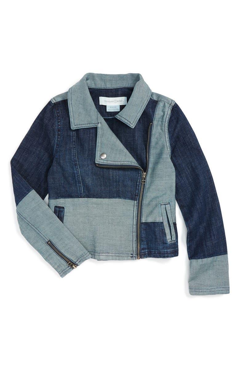 TREASURE & BOND Treasure&Bond Moto Denim Jacket, Main, color, 406
