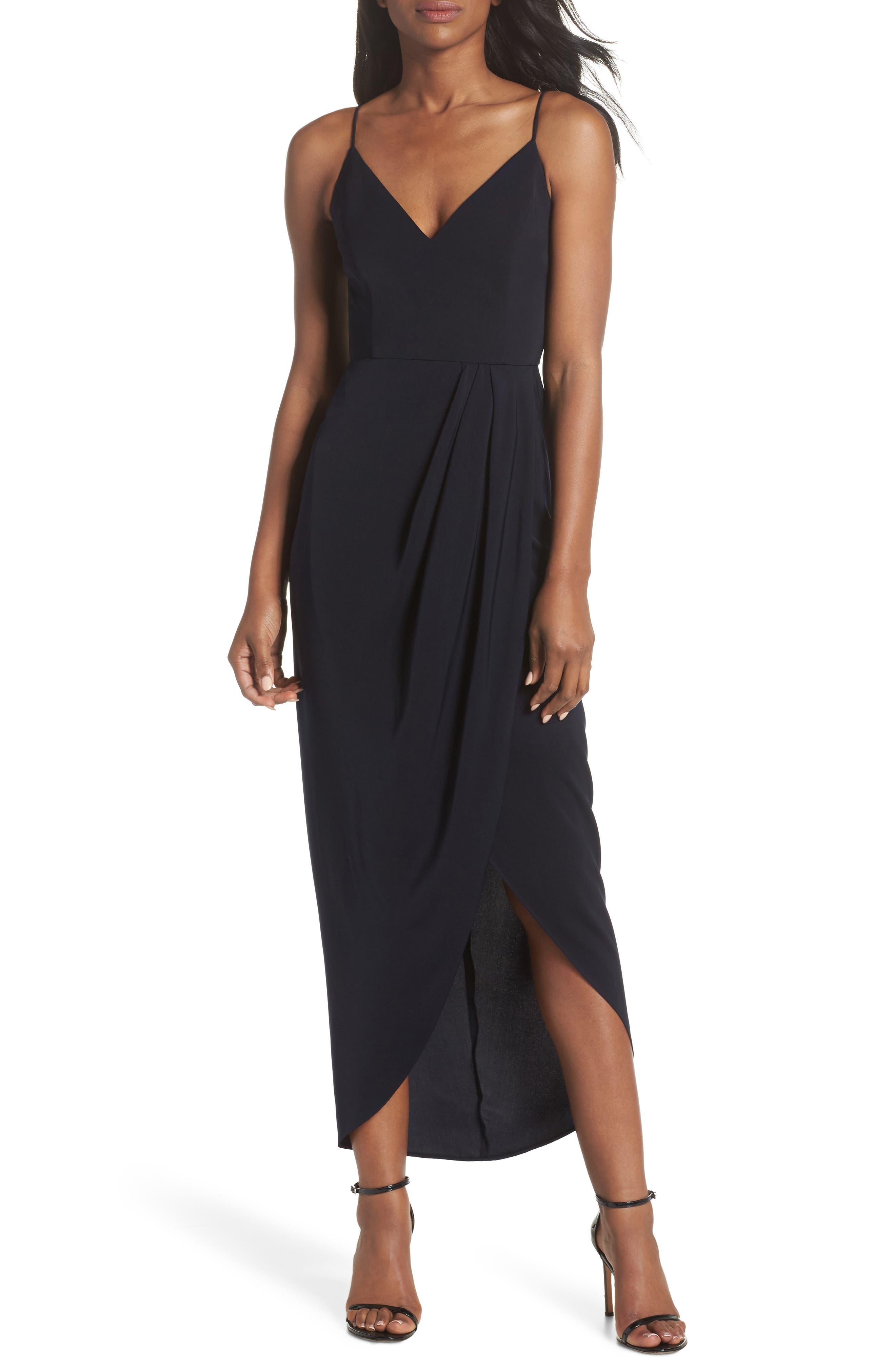 Shona Joy Tulip Hem Maxi Dress, Blue