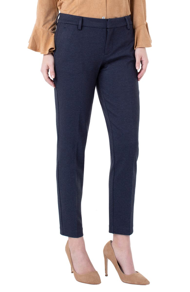 LIVERPOOL Kelsey Knit Trousers, Main, color, NAVY/ GREY