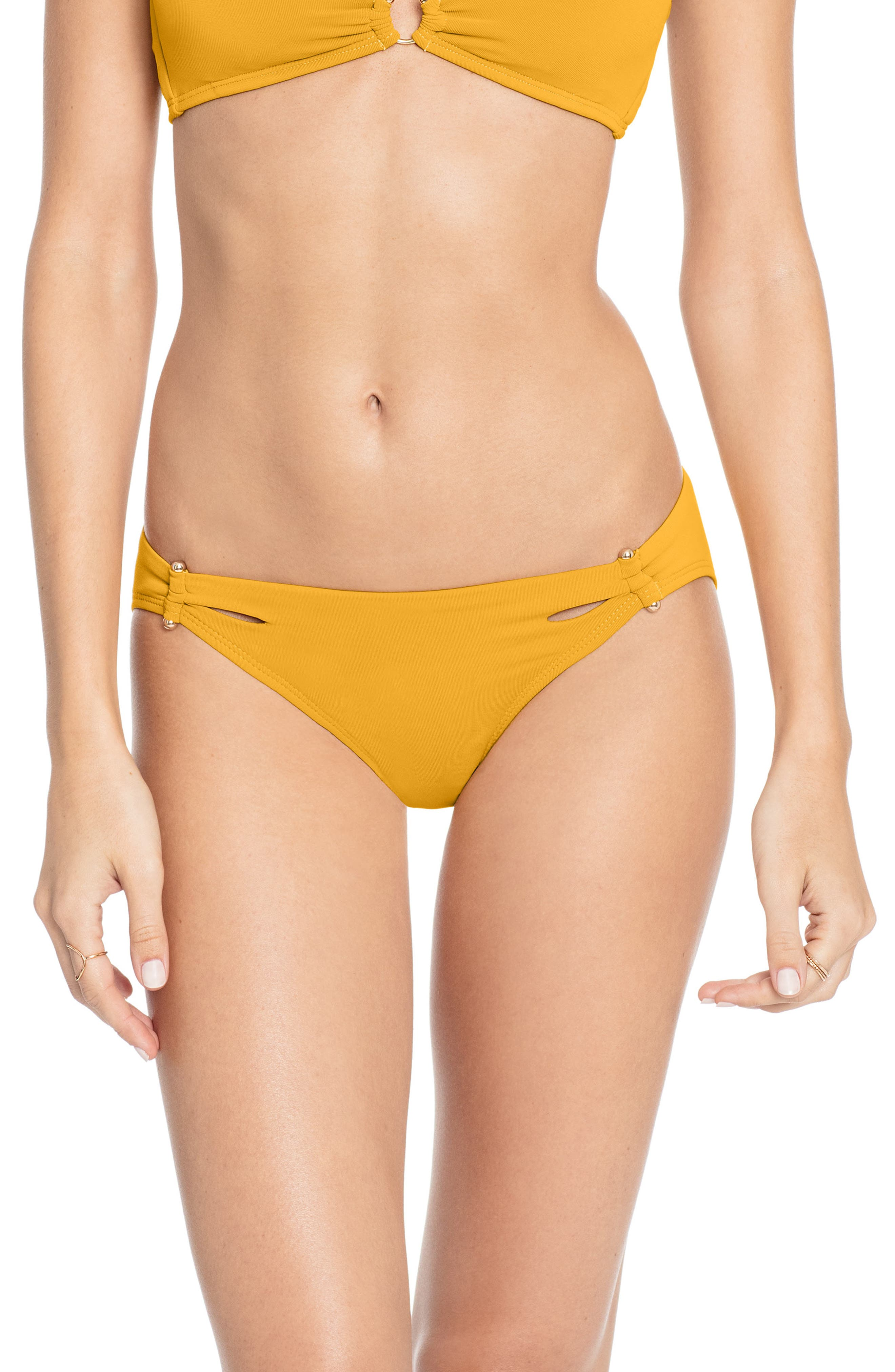 Robin Piccone Ava Bikini Bottoms, Yellow
