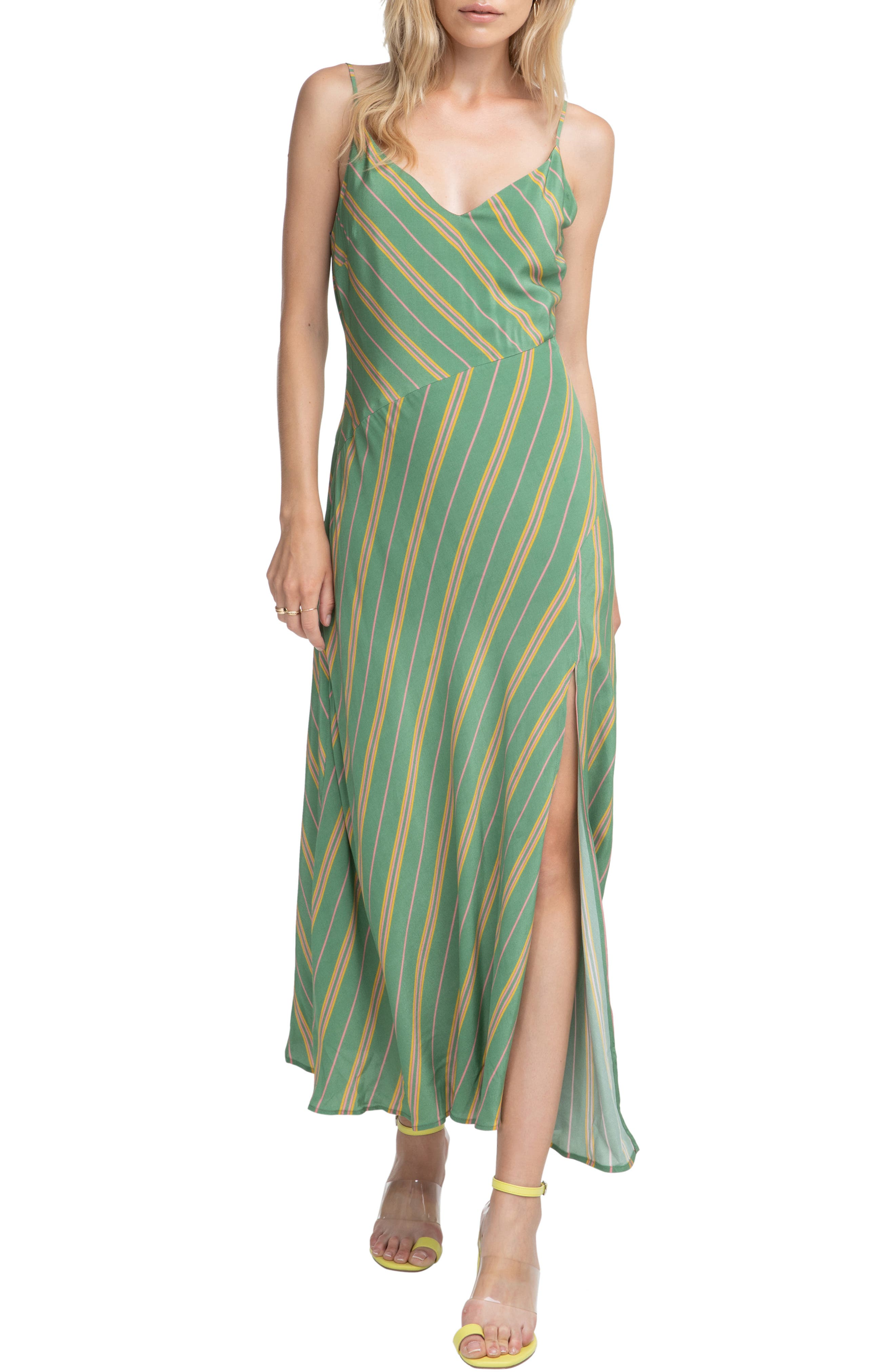 Astr The Label Jessi Maxi Dress, Green