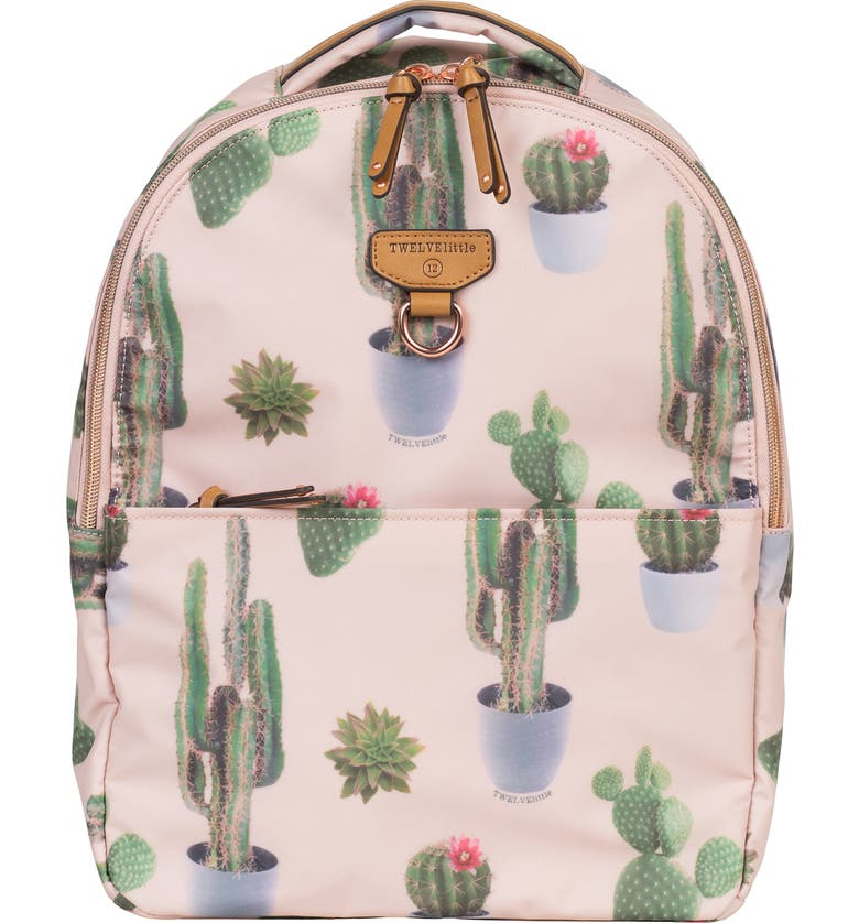 TWELVELITTLE Mini-Go Water Resistant Diaper Backpack, Main, color, CACTUS