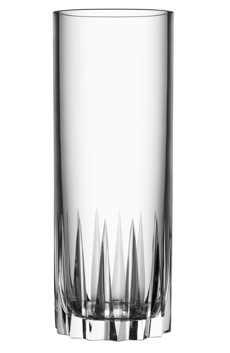 ORREFORS Sarek Lead Crystal Vase, Main, color, CLEAR