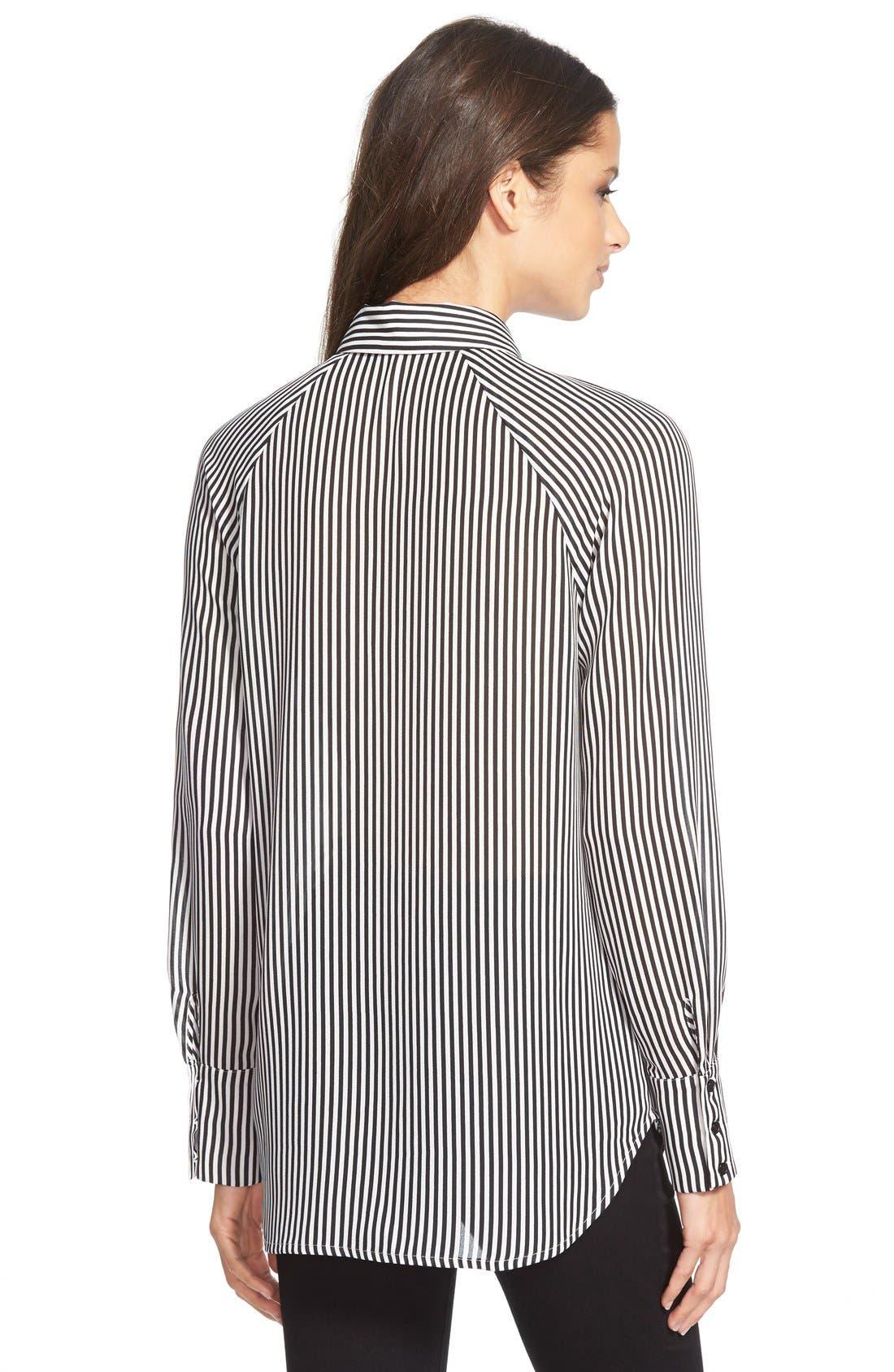 ,                             Tie Neck Button Front Blouse,                             Alternate thumbnail 2, color,                             900