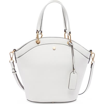 Sole Society Weekend Faux Leather Tote - White