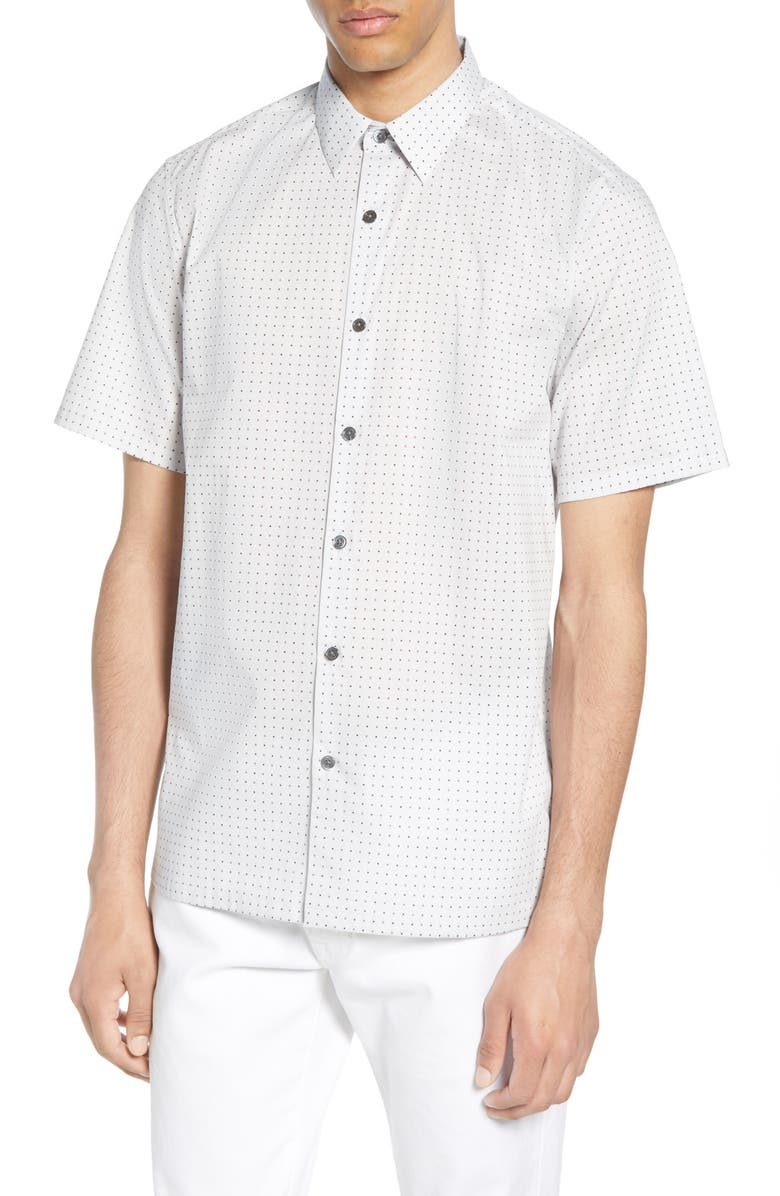 THEORY Irving Sphere Regular Fit Sport Shirt, Main, color, VAPOR MULTI