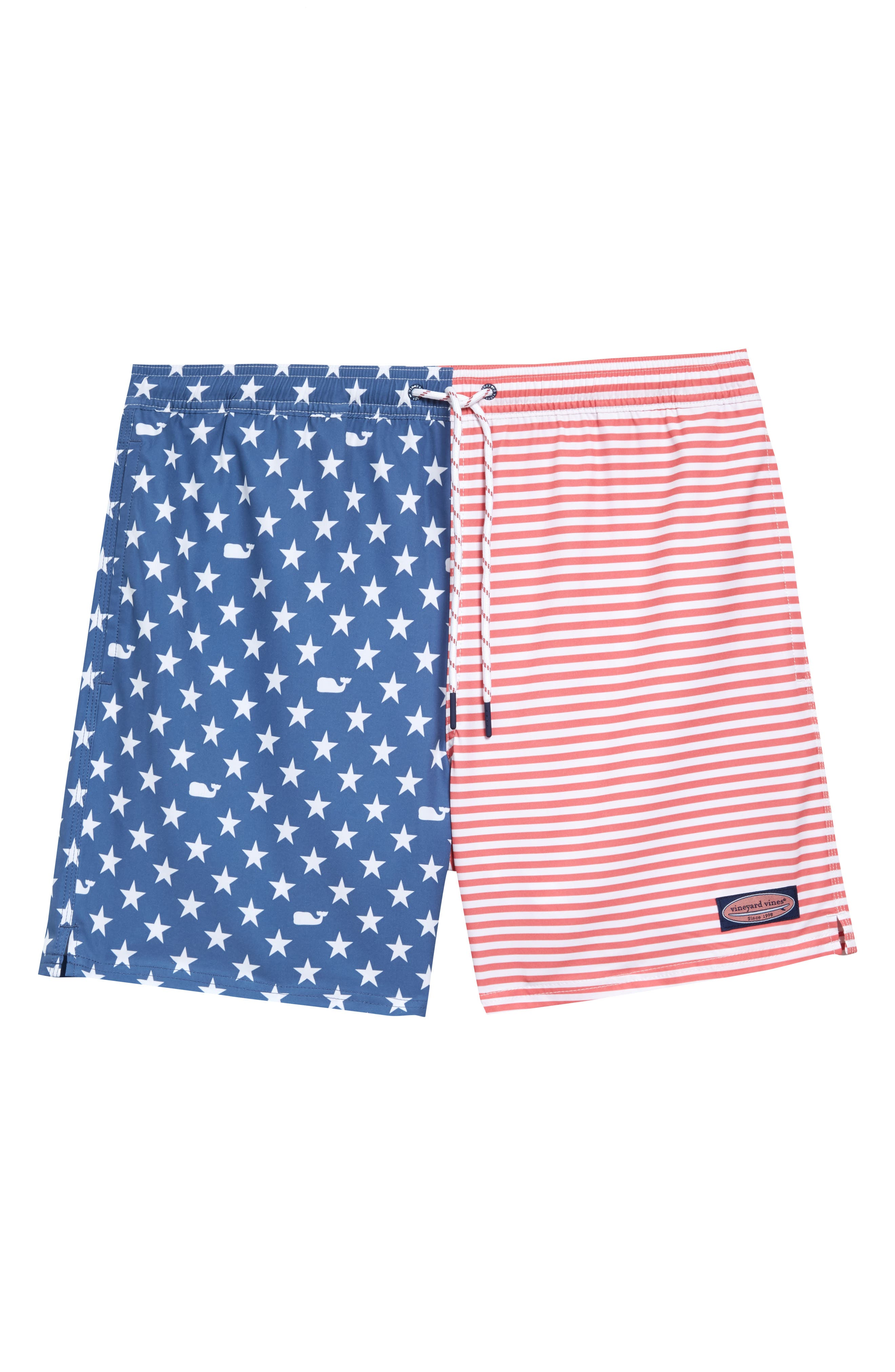 Microstripes add to the coolness of swim trunks cut from stretchy, quick-drying fabric for comfort in and out of the water. Style Name: Vineyard Vines Chappy Stripe Swim Trunks. Style Number: 6027581. Available in stores.