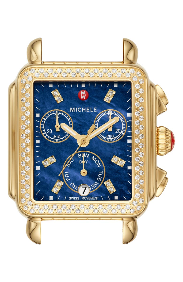 MICHELE Deco Diamond Diamond Dial Watch Head 33mm X 35mm
