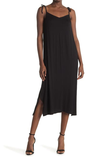 Image of Bobeau Tie Strap Knit Dress