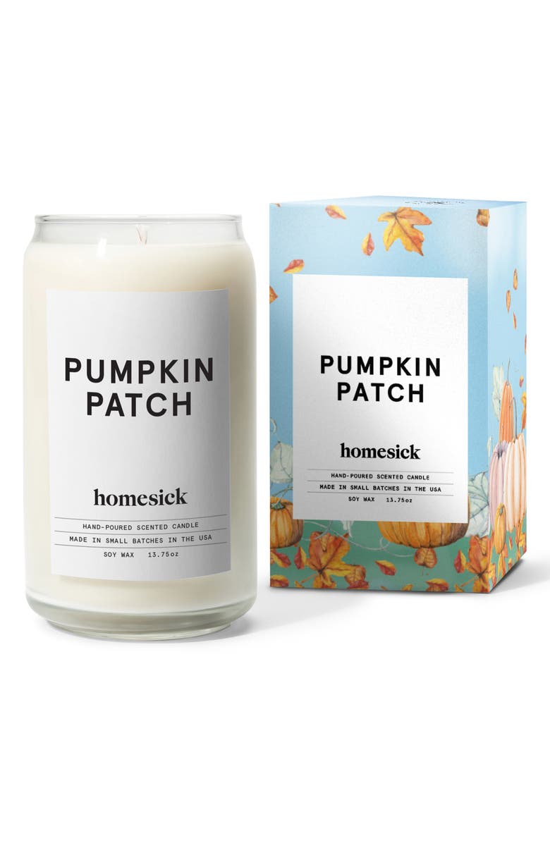 HOMESICK Pumpkin Patch Memory Soy Wax Candle, Main, color, 104