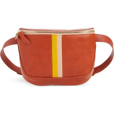 Clare V. Leather Belt Bag - Red