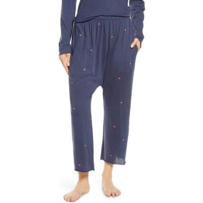 The Great. The Lounge Crop Pajama Pants, (fits like 0-2 US) - Blue