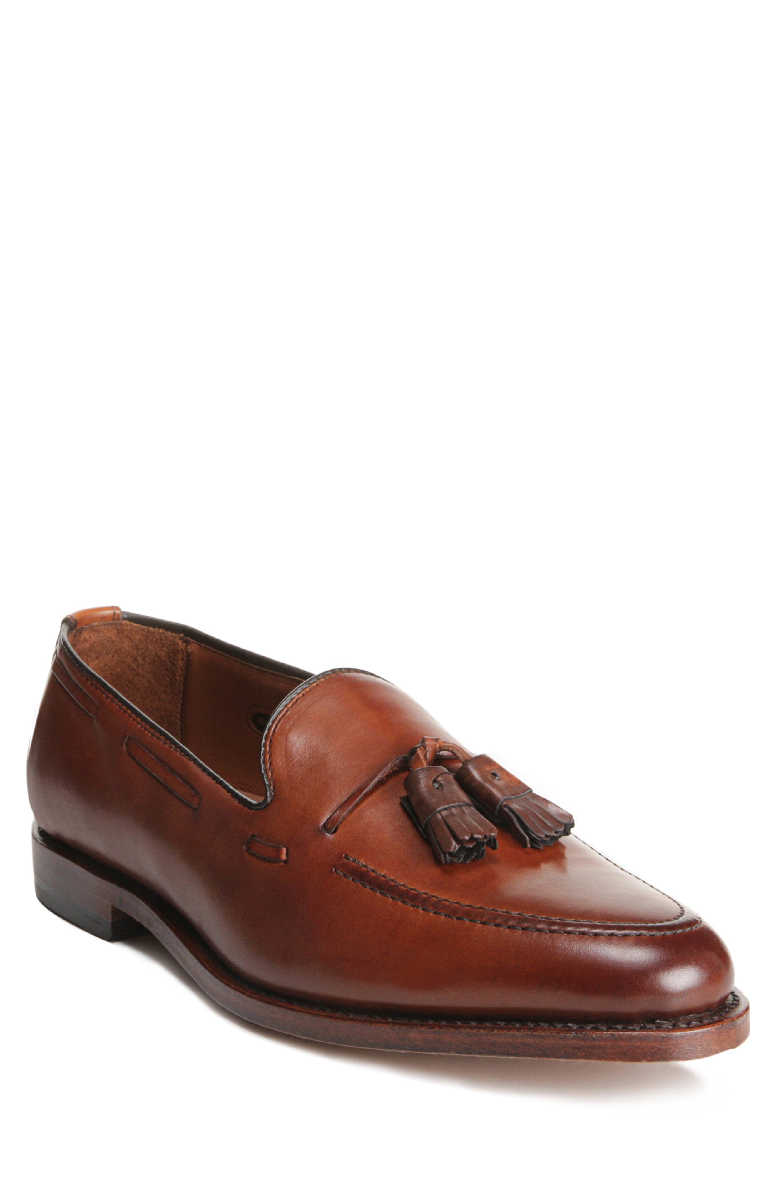 This dress-leather moccasin is handsomely styled with side lacing and tassels. It\\\'s cut in a slightly pointed toe and built for an adaptive fit. Style Name: Allen Edmonds \\\'Grayson\\\' Tassel Loafer (Men). Style Number: 107681. Available in stores.