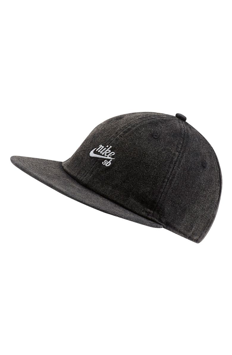 NIKE H86 Flatbill Baseball Cap, Main, color, BLACK/WHITE