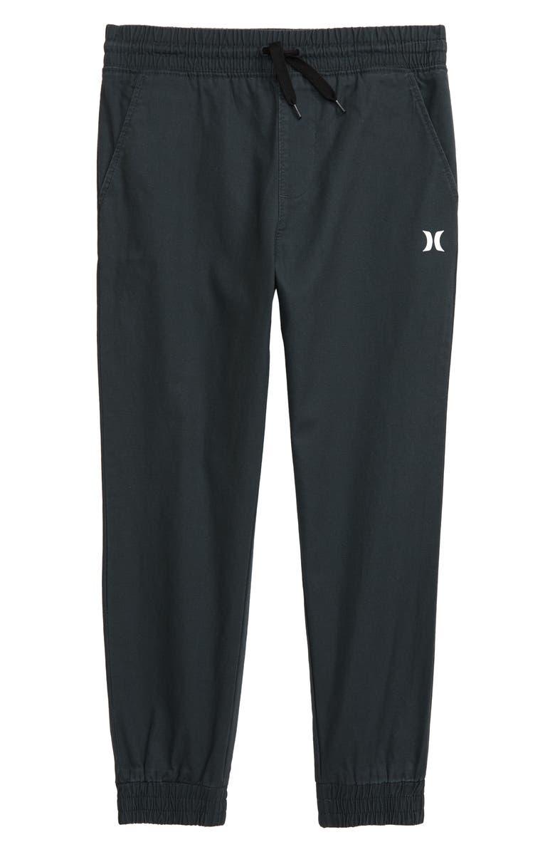 HURLEY Jogger Pants, Main, color, BLACK/ WHITE