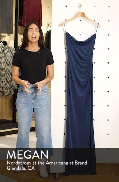 Surreal Cowl Back Evening Dress, sales video thumbnail