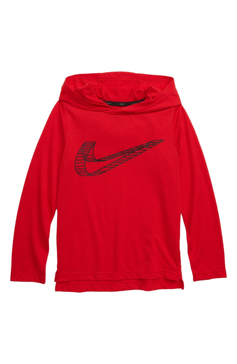 NIKE Breathe Dri-FIT Pullover Hoodie, Main, color, UNIVERSITY RED
