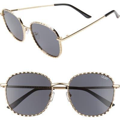 Quay Australia X Lizzo Jezebell 5m Round Sunglasses - Gold/ Smoke