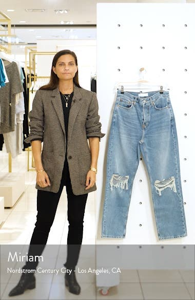 Ripped High Waist Dad Jeans, sales video thumbnail