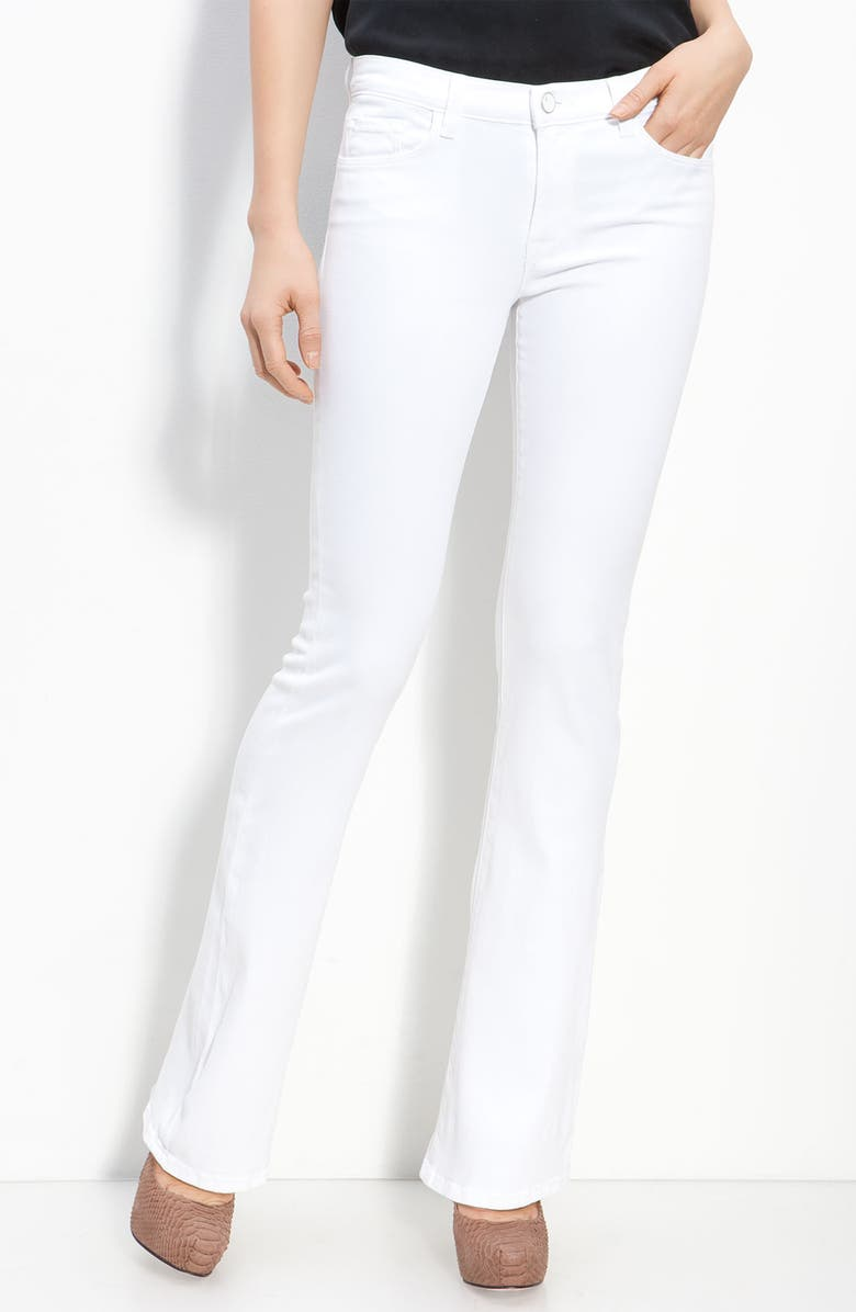 J BRAND 'Janey' Slim Bootcut Jeans, Main, color, 111