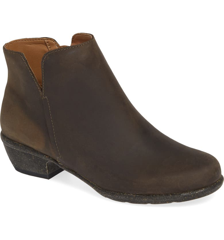 CLARKS<SUP>®</SUP> Wilrose Frost Bootie, Main, color, TAUPE OILED LEATHER