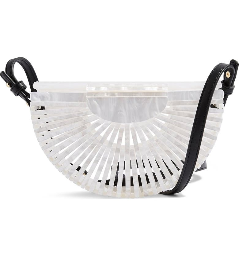 TOPSHOP Cancun Acrylic Crossbody Bag, Main, color, WHITE MULTI