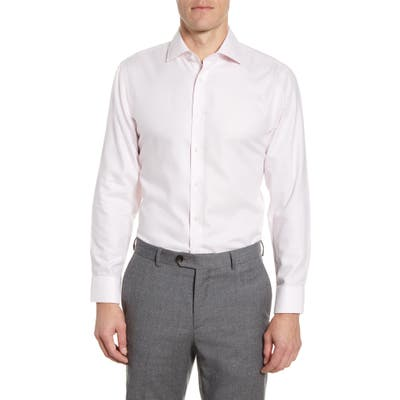 The Tie Bar Trim Fit Solid Textured Dress Shirt, Pink