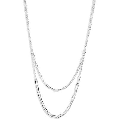 Argento Vivo Layered Paperclip Necklace