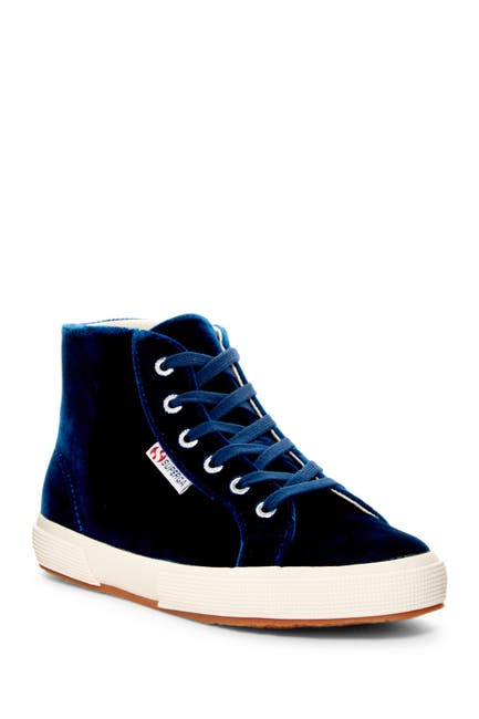 Image of Superga Velvet Hi Top Sneaker