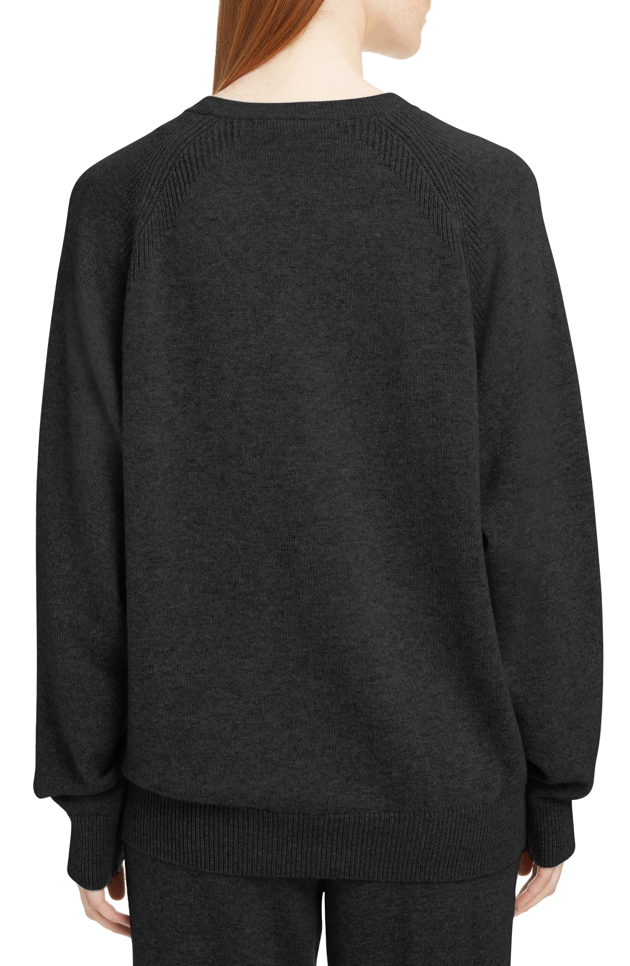 ,                             Embossed Logo Cashmere Sweater,                             Alternate thumbnail 2, color,                             001