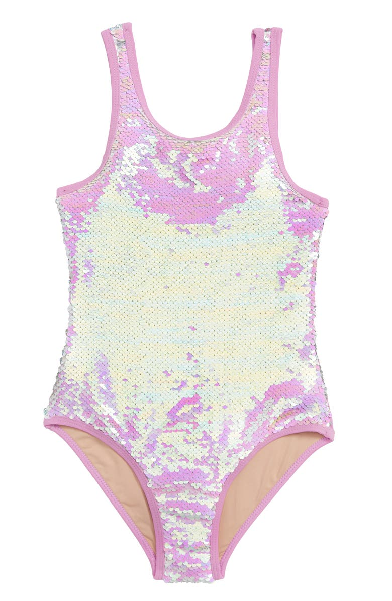 SHADE CRITTERS Flip Sequin One-Piece Swimsuit, Main, color, 500