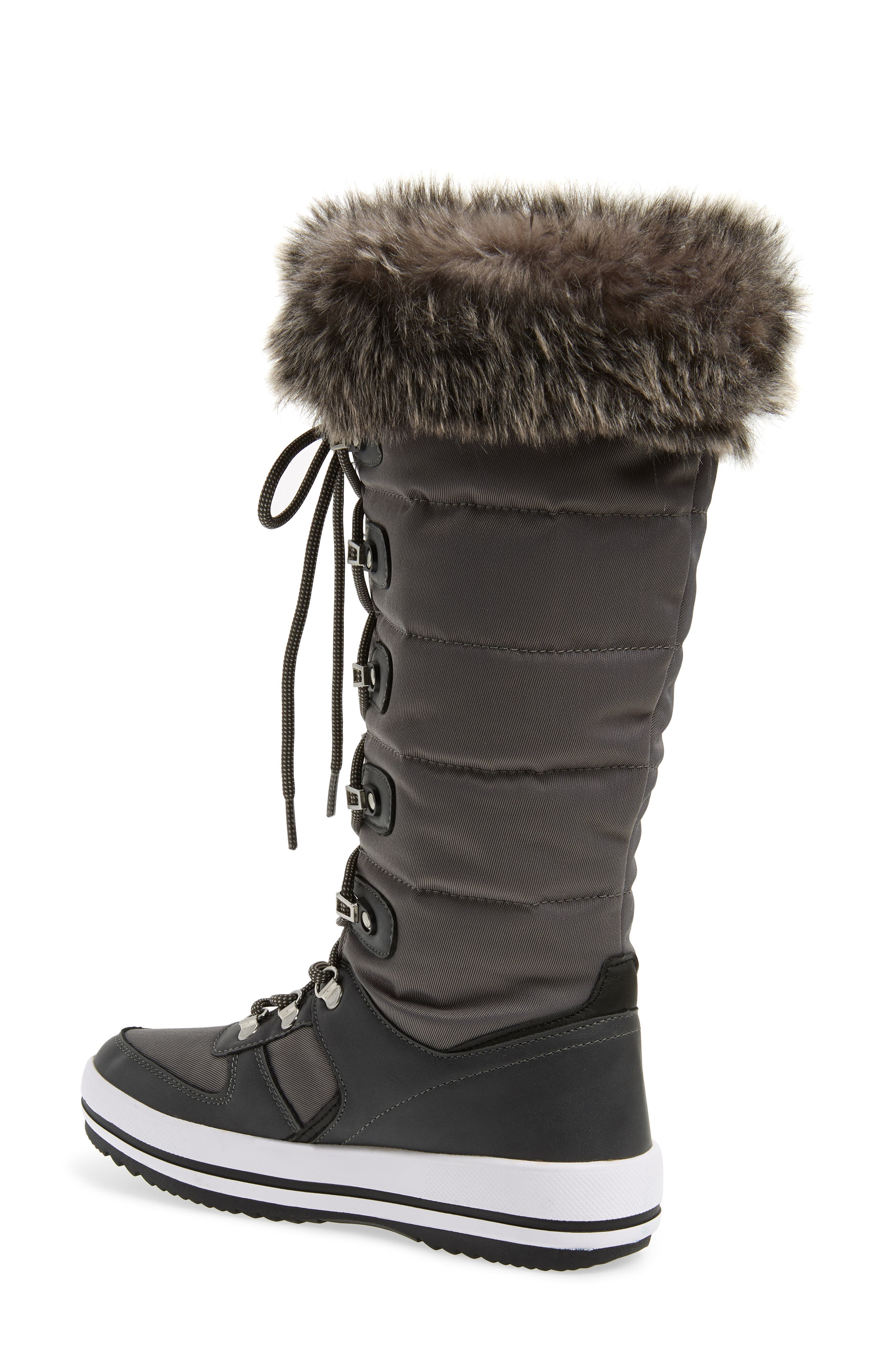 ,                             Vesta Faux Fur Collar Knee High Snow Boot,                             Alternate thumbnail 8, color,                             020