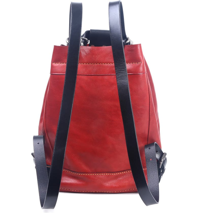 OLD TREND Stars Align Leather Bucket Backpack, Main, color, ROSE/BLACK