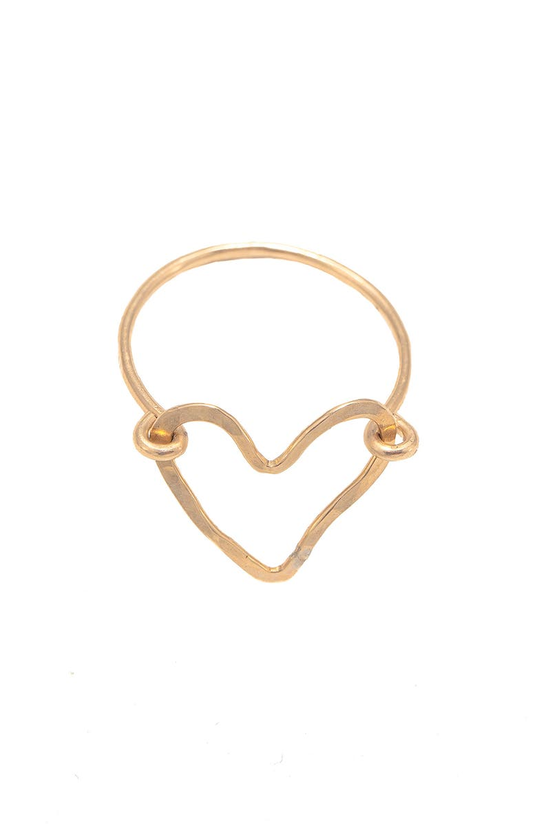 TERESSA LANE JEWELRY Lucy Open Heart Ring, Main, color, GOLD