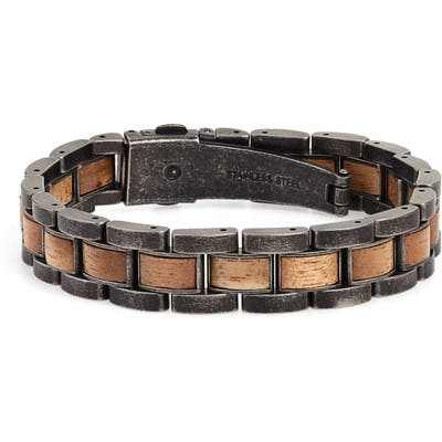 Original Grain Wood & Steel Link Bracelet