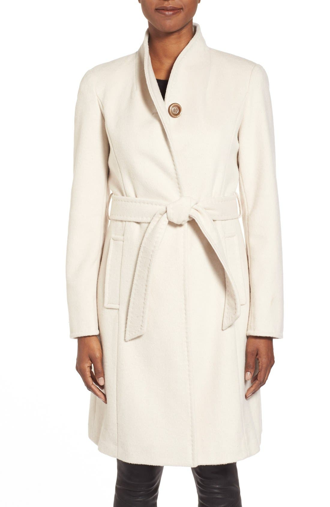 ,                             Belted Wool Blend Stand CollarCoat,                             Main thumbnail 11, color,                             112