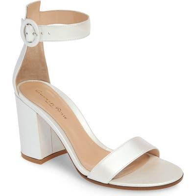 Gianvito Rossi Block Heel Sandal - White